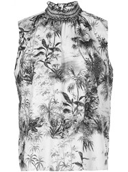 Adam By Adam Lippes Smocked Neck Printed Top 60