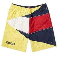 Tommy Jeans Summer Flag Short Yellow