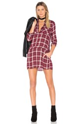 Bb Dakota Jack By Anden Shirt Dress Red