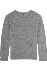 R 13 R13 Distressed Cashmere Sweater Gray