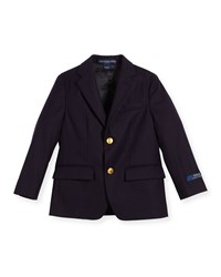 Ralph Lauren Childrenswear Lessona Wool Blazer Navy Size 5 7 Girl's Size 6