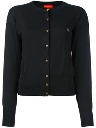 Vivienne Westwood Red Label Embroidered Logo Cardigan Black