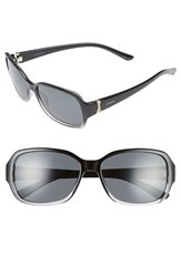 Women's Polaroid Eyewear 56Mm Polarized Sunglasses Grey Grey Polarized