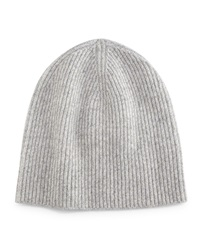 Ribbed Cashmere Beanie Gray Gray Vince