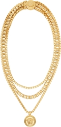 Versace Gold Multi Chain Necklace