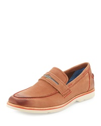 Robert Graham Gansevoort Leather Penny Loafer Tan