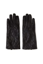 Forever 21 Faux Leather And Lace Gloves