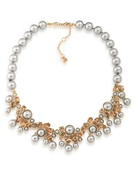 Carolee 12K Goldplated 4 10Mm Faux Pearl Statement Collar Necklace