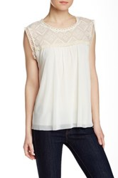 Weston Wear Chloe Sleeveless Blouse Beige