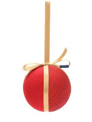 Rubelli Vanity Small Christmas Ball Ornament Red Orange