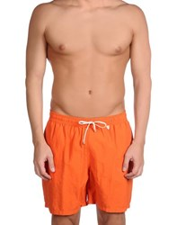 Loro Piana Swimwear Swimming Trunks Men Orange