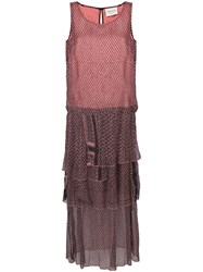 Cecilie Copenhagen Printed Clepto Dress Pink And Purple