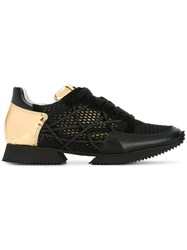 Alberto Premi Mesh Lace Up Sneakers Black