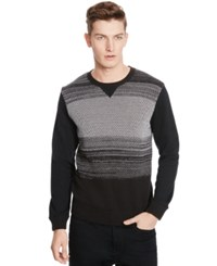 Kenneth Cole Reaction Jacquard Crew Neck Sweater