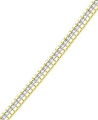 Victoria Townsend Diamond 1 Ct. T.W. Watch Link Bracelet In 18K Yellow Or Rose Gold Plated Brass Or Silver Plated Brass