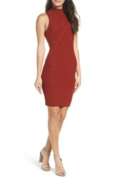 Ali And Jay Women's Body Con Dress Rust
