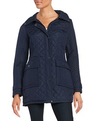 Weatherproof Plus Quilted Walker Coat Dark Denim Blue
