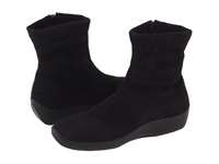 Arcopedico L8 Black Faux Suede Women's Zip Boots