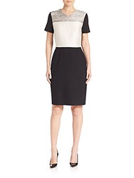 Hugo Boss Dapena Colorblock Dress Black