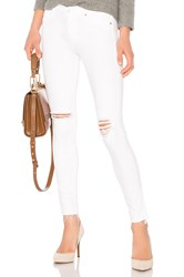 Hudson Jeans Nico Midrise Ankle Skinny Optical White Destructed