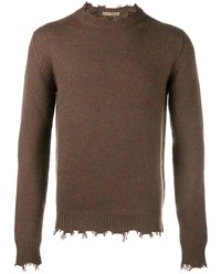 Etro Distressed Cashmere Sweater Multi Coloured White