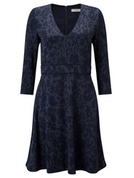 Marella Parana Jacquard Dress Navy