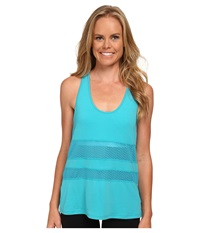 New Balance Mesh Panel Tank Top Sea Glass Women's Sleeveless Multi