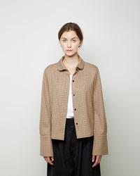 J.W.Anderson Windowpane French Cuff Blouse Camel