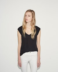 Etoile Isabel Marant Kentow Linen Tee Faded Black