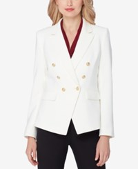 Tahari By Arthur S. Levine Asl Double Breasted Blazer Cloud