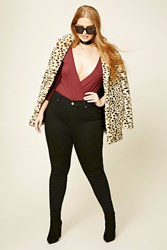 Forever 21 Plus Size Skinny Ankle Jeans Black