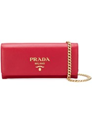 Prada Mini Wallet Bag Red