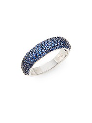Effy Final Call Sapphire And 14K White Gold Ring Blue