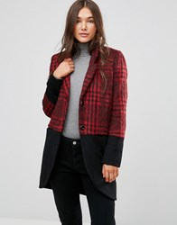 Religion Property Coat In Check Mix Black Red