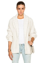 Mason By Michelle Mason Chunky Cardigan In White