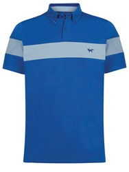 Wolsey Stripe Regular Fit Polo Shirt Blue