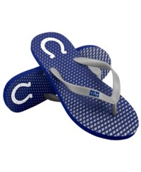 Forever Collectibles Indianapolis Colts High End Flip Flops Blue