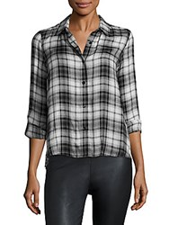 Generation Love Calvin Plaid Shirt Black White