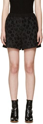 3.1 Phillip Lim Black Leopard Print Shorts