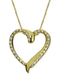 Giani Bernini Cubic Zirconia Heart Pendant Necklace In 18K Gold Plated Sterling Silver Only At Macy's Yellow Gold
