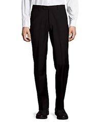 John Varvatos Astor Luxe Wool Straight Leg Dress Pants Black