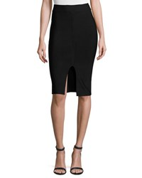 Alexander Wang Matte Ponte Pencil Skirt Black