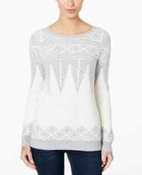 G.H. Bass And Co. Patterned Sweater Cream Multi