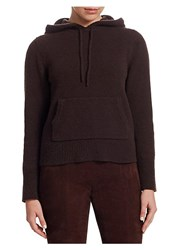 The Row Nassam Cashmere Hoodie Dark Brown