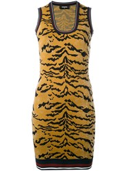 Dsquared2 Animal Print Mini Dress Women Polyester Viscose M Brown