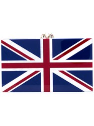 Charlotte Olympia English Flag Clutch Women Acetate One Size Blue