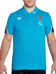 Canterbury Of New Zealand Rugby World Cup England Training Polo Shirt Blue