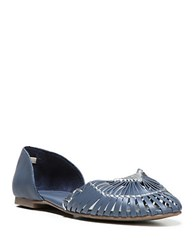 Fergie Nickle Leather Flats Moonlight