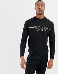 Boss Bodywear Logo Crew Neck Sweat Black