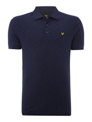 Lyle And Scott Men's Flecked Short Sleeve Polo Shirt Navy